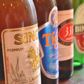 タイやベトナムのお酒を多数品揃え!一般的な日本のビールやハイボールもある、食べて飲めるアジアン食堂です!